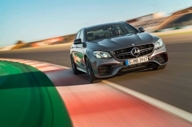 2018 Mercedes AMG E63 S front end in motion 02