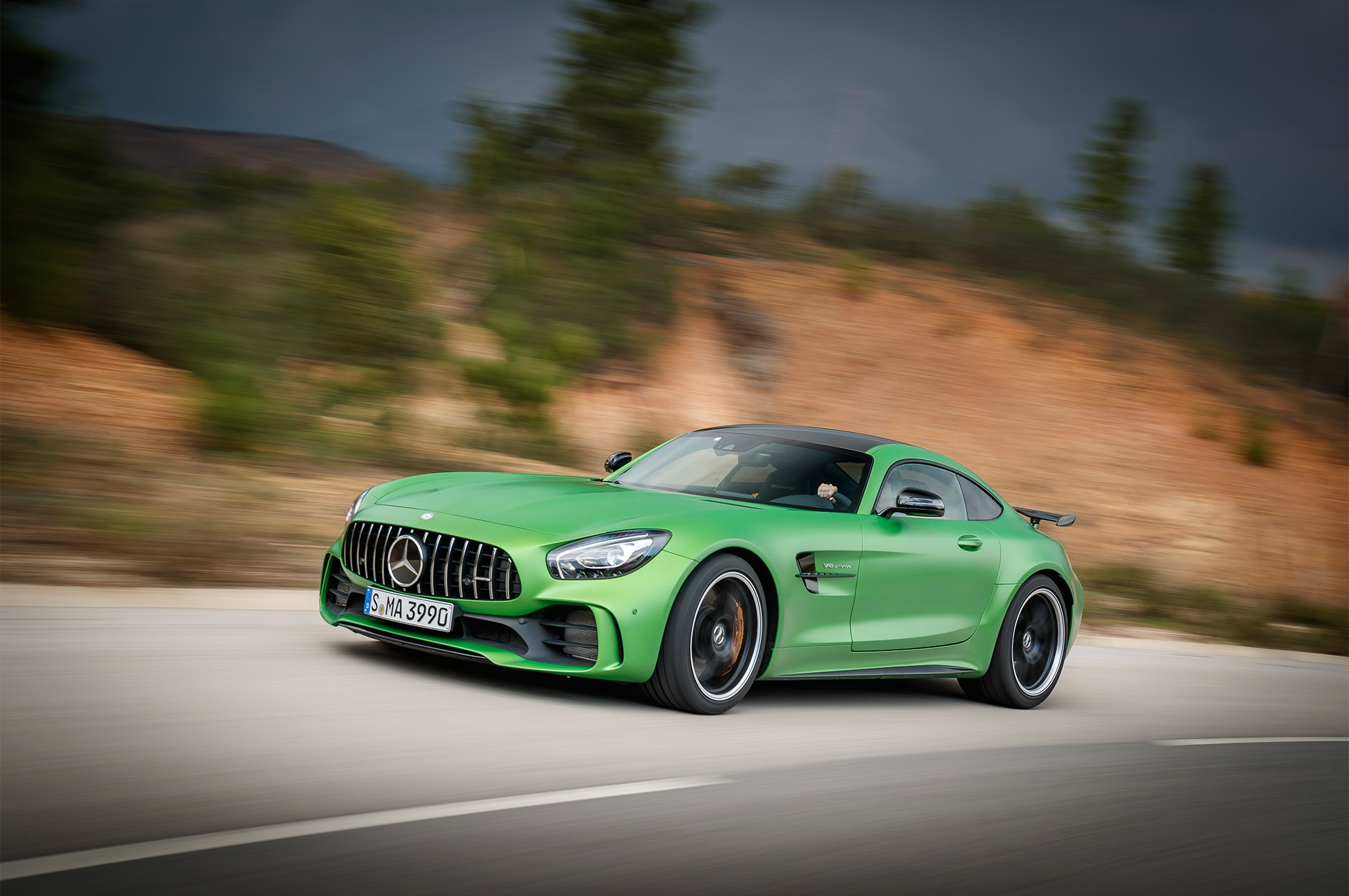 2018 Mercedes AMG GT R Front Three Quarter In Motion 06