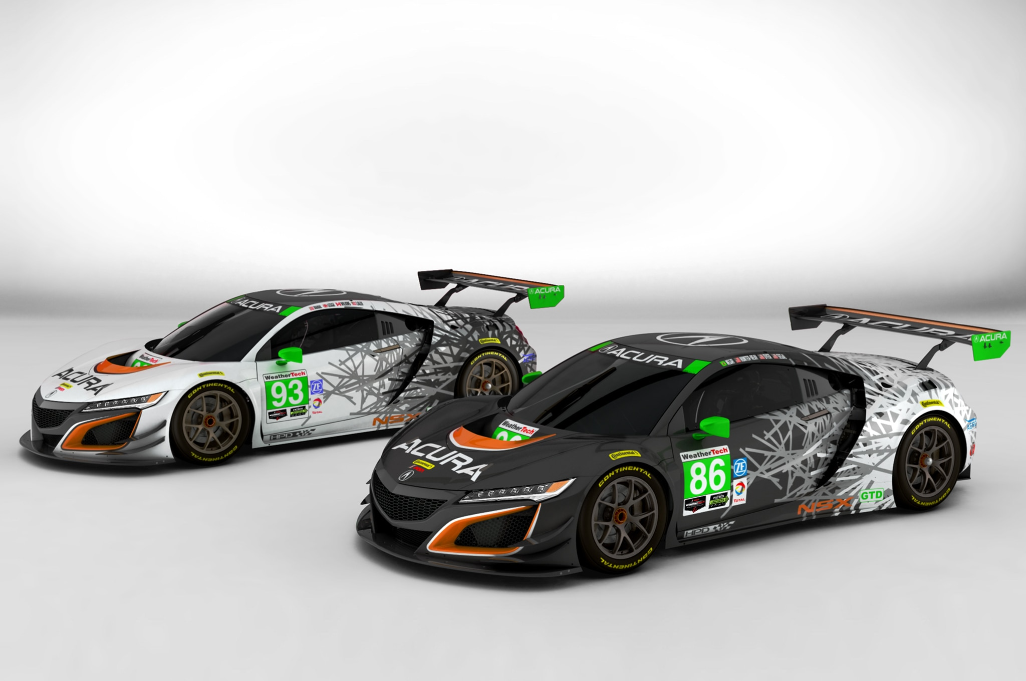 Acura NSX GT3 Michael Shank Racing Liveries 01