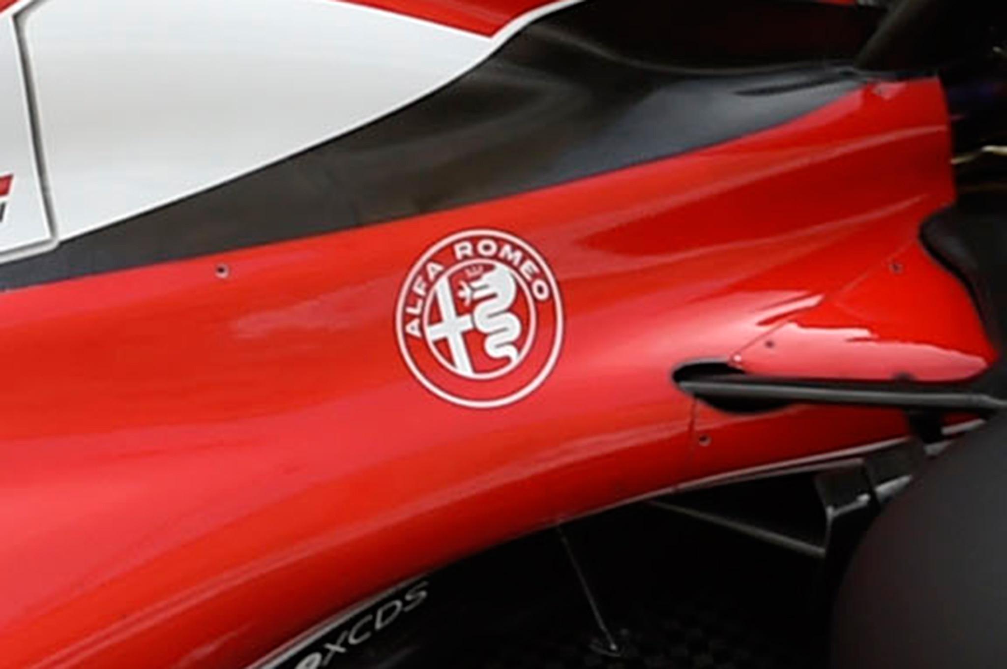 Alfa Romeo Badge On Ferrari F1 Car