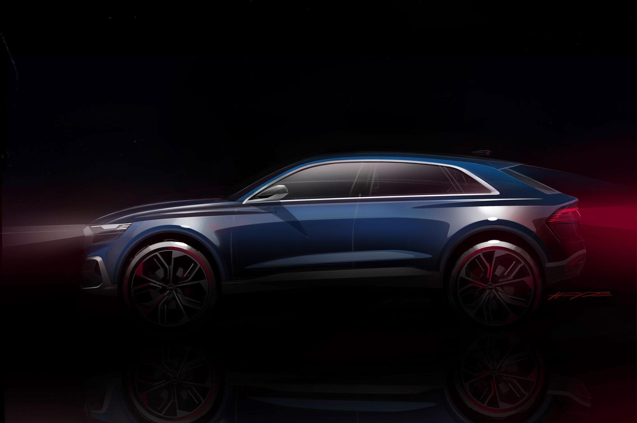 Audi Q8 Concept Teaser Side