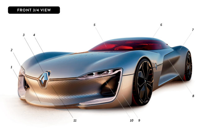 By Design Renault Trezor Concept front three quarter