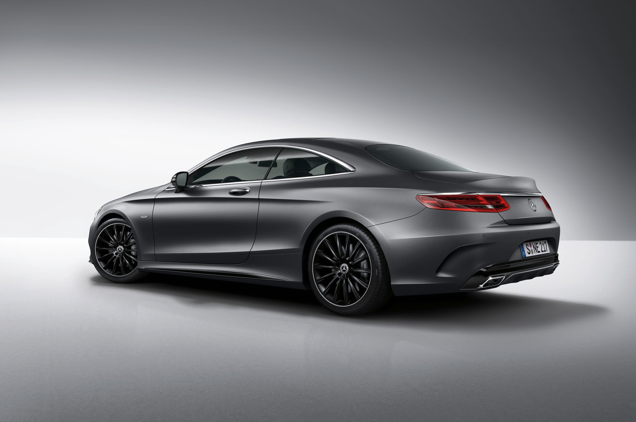 Mercedes Benz S Class Coupe Night Edition Rear Three Quarters