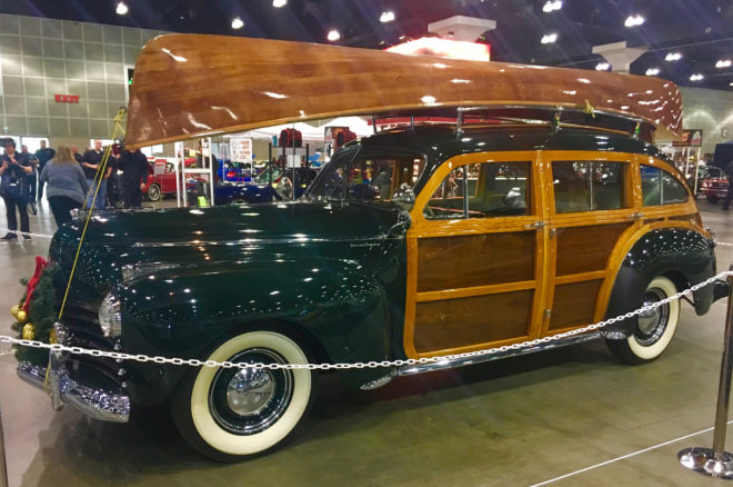 1941 Chrysler Town and Country Woodie front three quarter