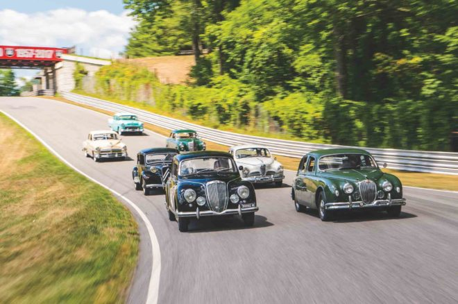 Six 1950s Sedans Take on Lime Rock Park