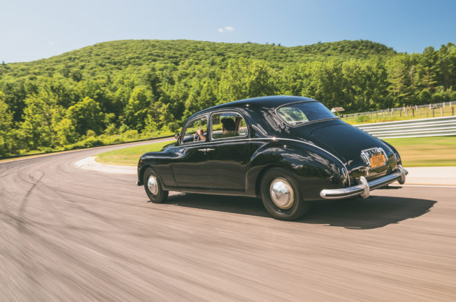 1952 Lancia Aurelia B10S rear three quarter in motion