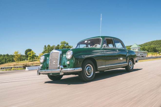 1959 Mercedes Benz 219 front three quarter in motion