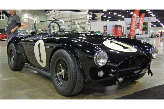 1962 Shelby Cobra owned by Bruce Meyer front three quarter