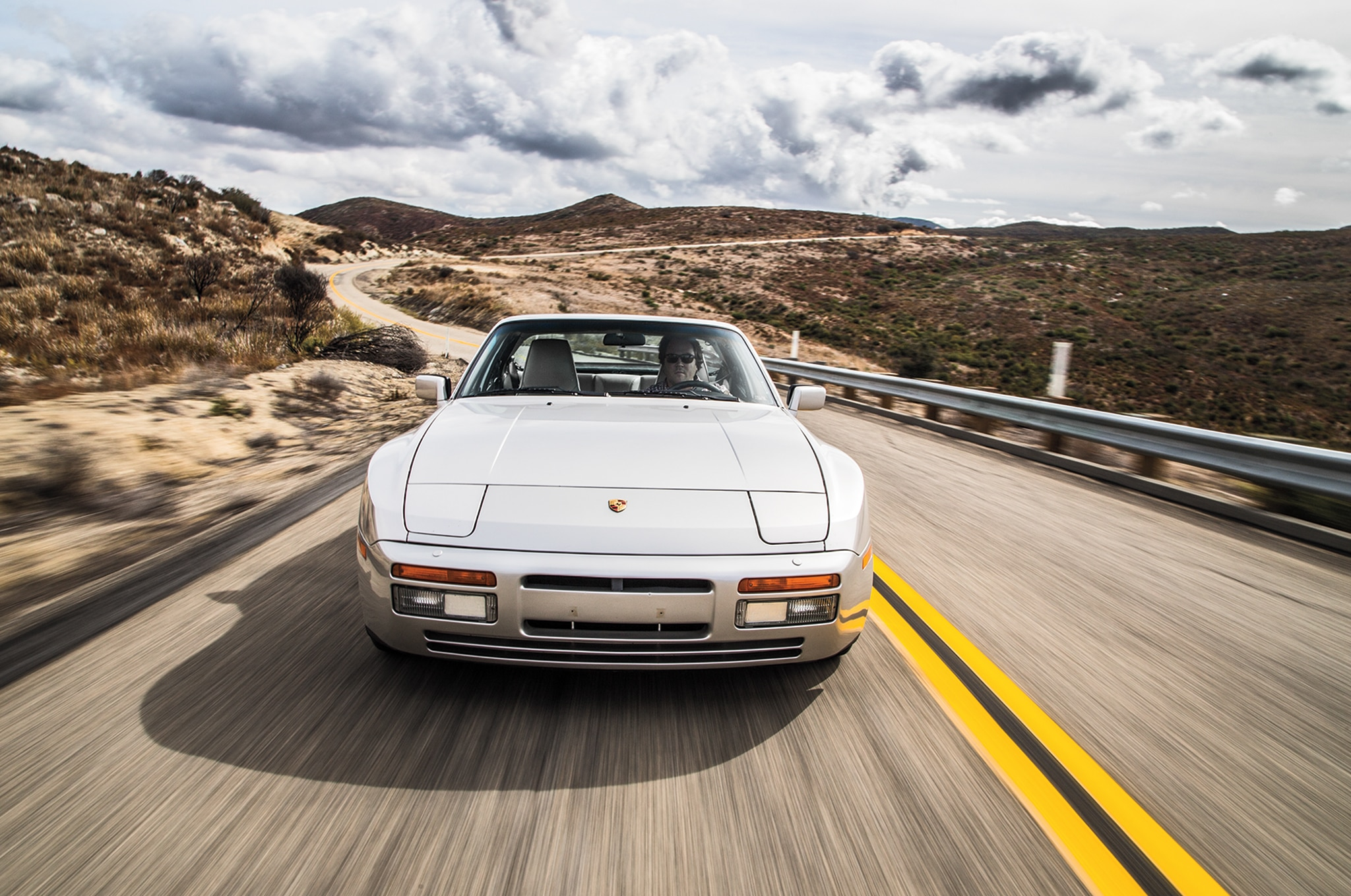 1989 Porsche 944 S2 Front View In Motion