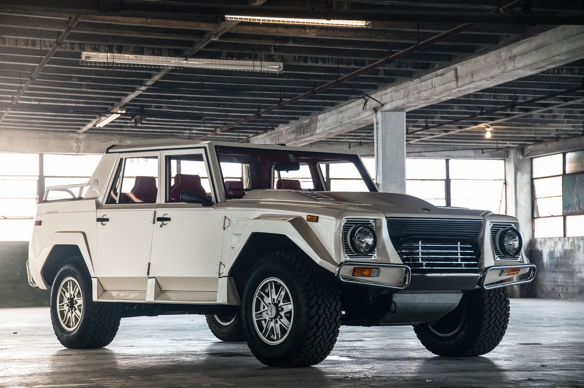 1990 Lamborghini LM002 Petrolicious Just Listed Front Three Quarters 2 Copy
