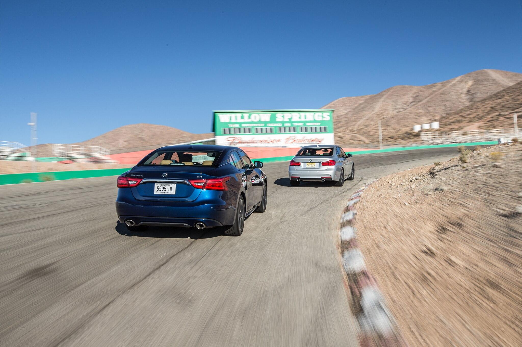 Four Seasons 2016 Nissan Maxima SR vs 2016 BMW 340i