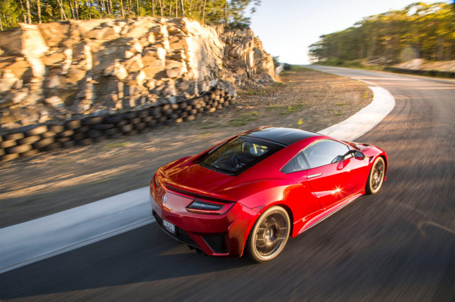 2017 Acura NSX Rear Three Quarter In Motion 06 660x438