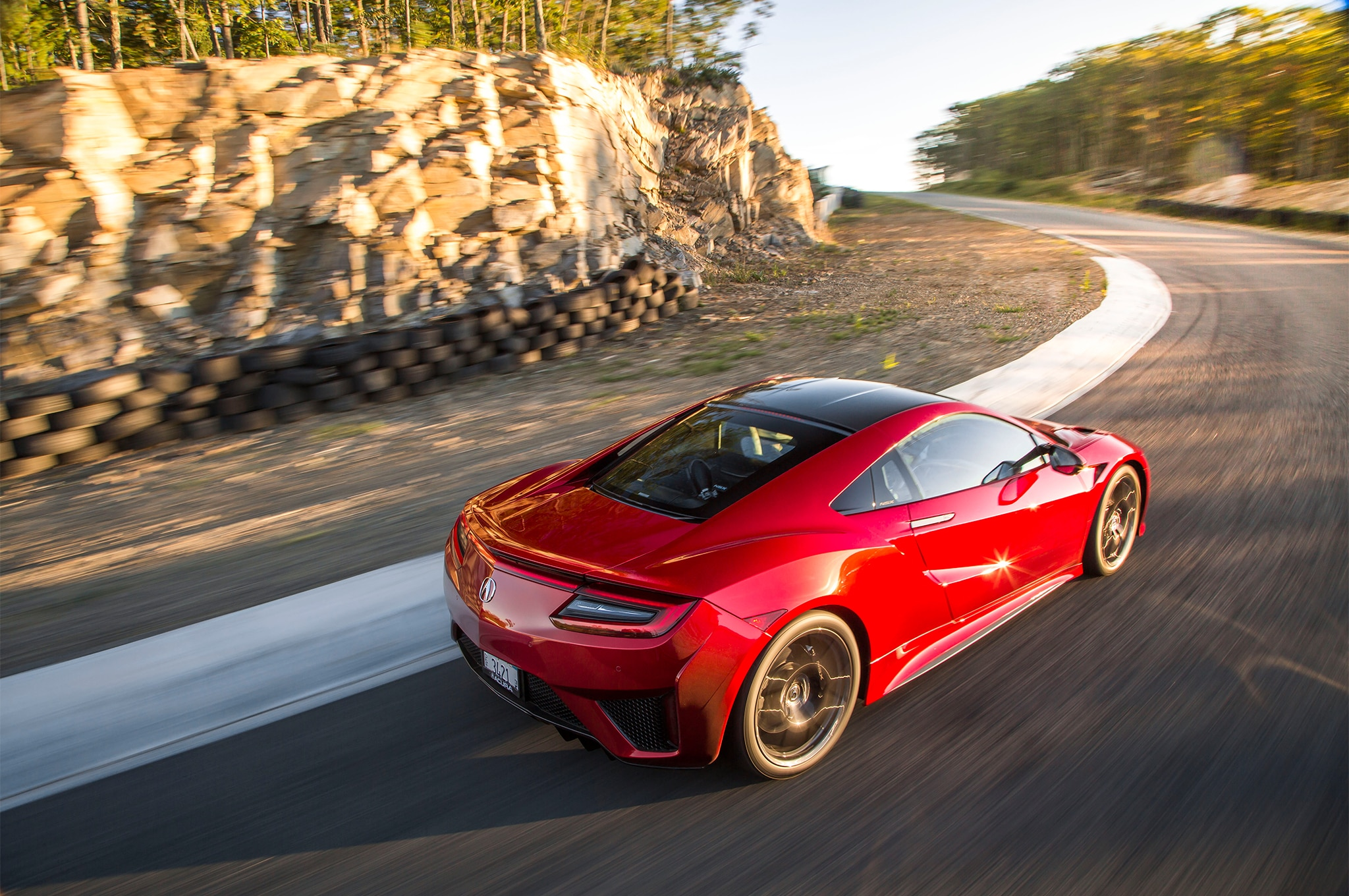 2017 Acura NSX Rear Three Quarter In Motion 06