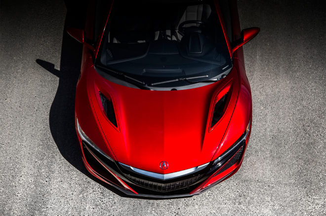 2017 Acura NSX top view detail 01
