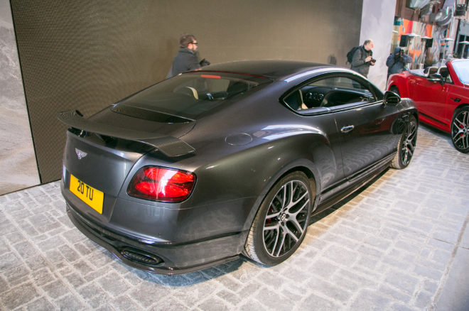 2017 Bentley Continental GT SuperSports rear three quarter 02
