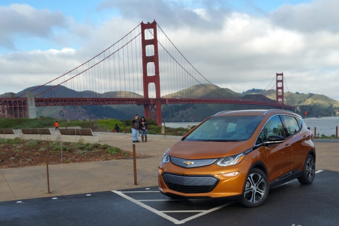 2017 Chevrolet Bolt EV Golden Gate Bridge