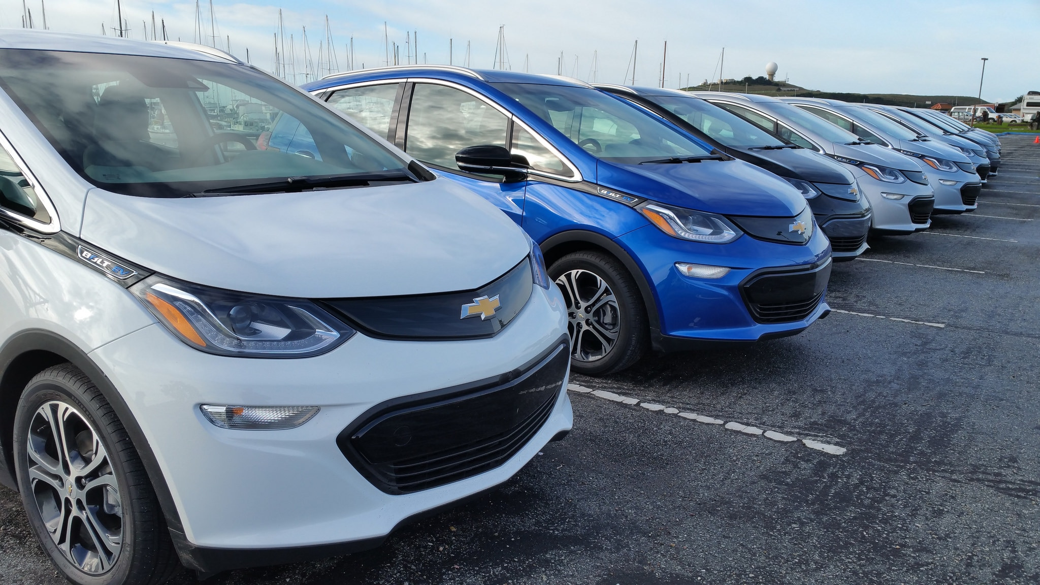 2017 Chevrolet Bolt EVs Row