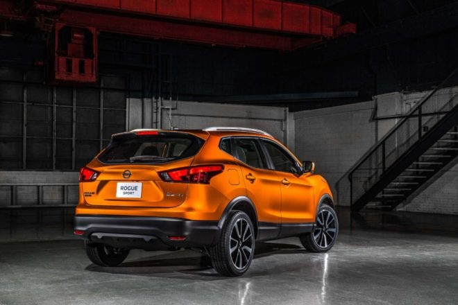 2017 Nissan Rogue Sport rear three quarter