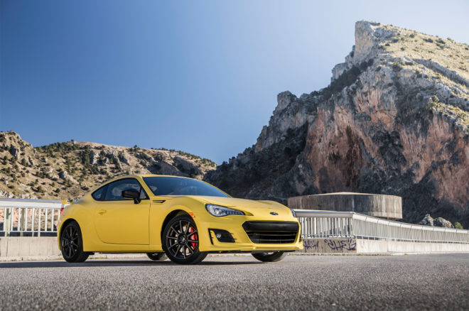 2017 Subaru BRZ Limited Performance Package Series–Yellow Front Three Quarter 01 660x438