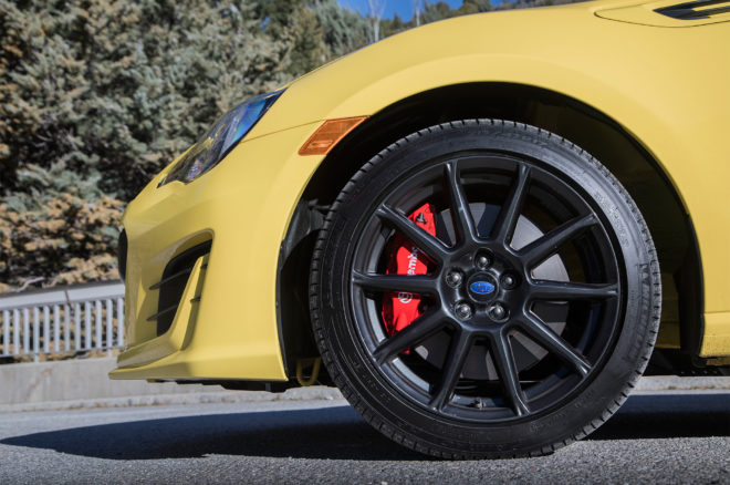 2017 Subaru BRZ Limited Performance Package Series–Yellow wheel