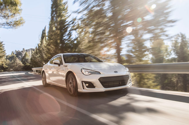 2017 Subaru BRZ Limited Performance Package Front Three Quarter In Motion 41 660x438