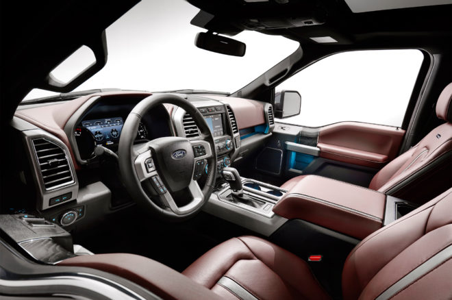 2018 Ford F 150 interior view