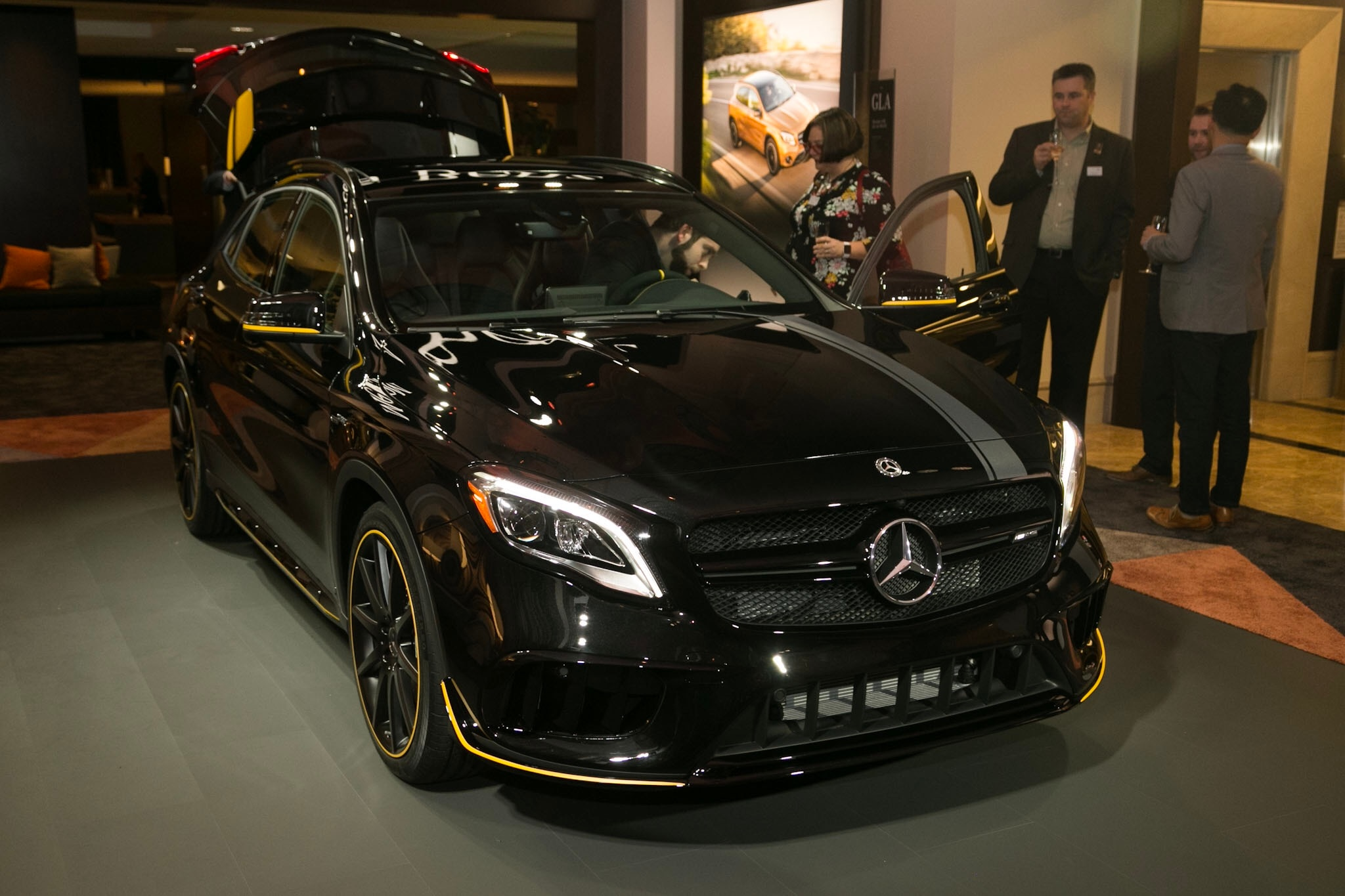 2018 Mercedes AMG GLA45 4Matic Front Three Quarters