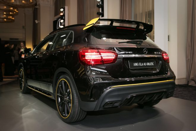 2018 Mercedes AMG GLA45 4Matic rear three quarter