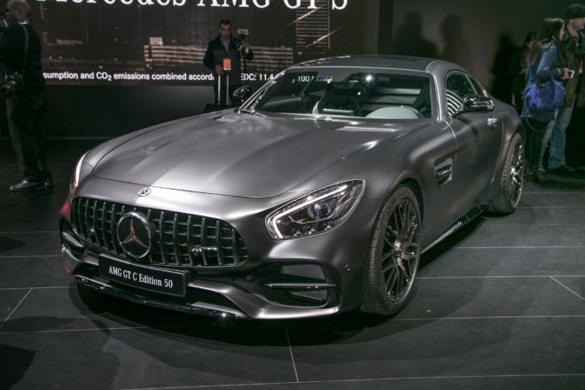 2018 Mercedes AMG GT C Coupe Edition 50 Front Three Quarter 660x440