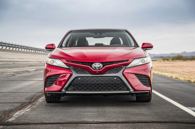 2018 Toyota Camry XSE front view