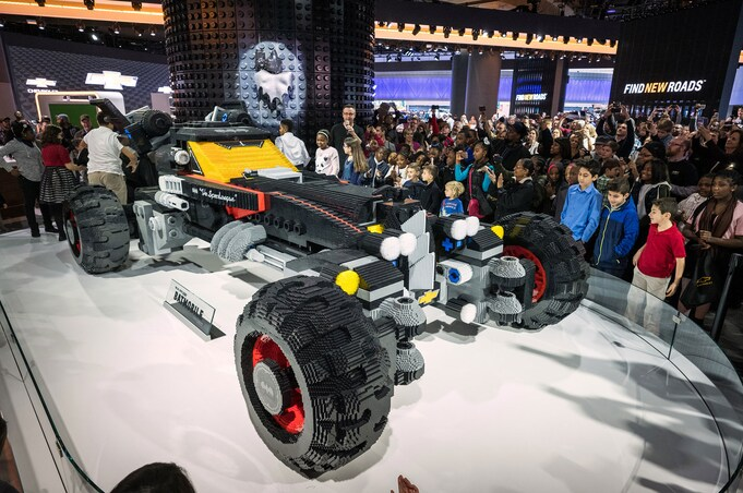 Chevrolet LEGO Batmobile at 2017 Detroit auto show 2