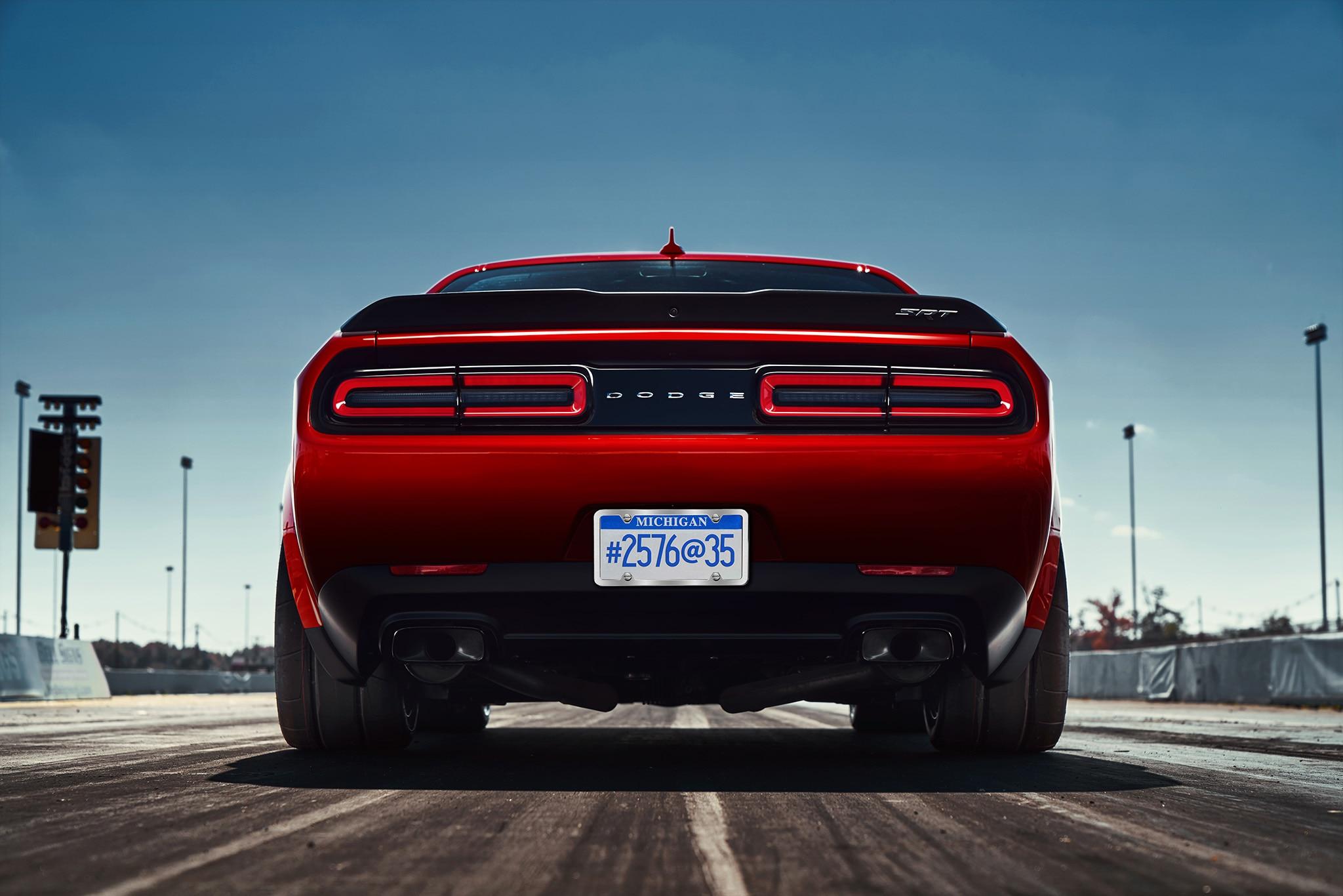 Dodge Challenger SRT Demon Widebody Rear