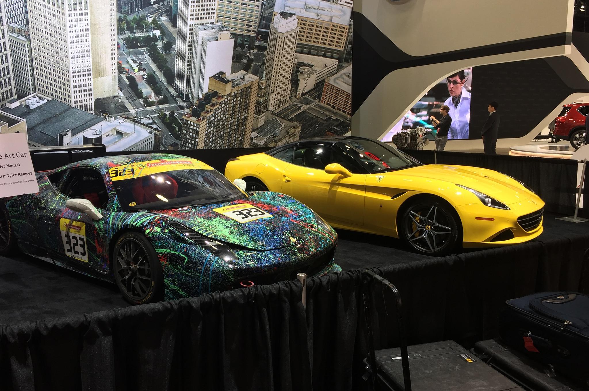 Ferrari California T And Challenge Car Detroit