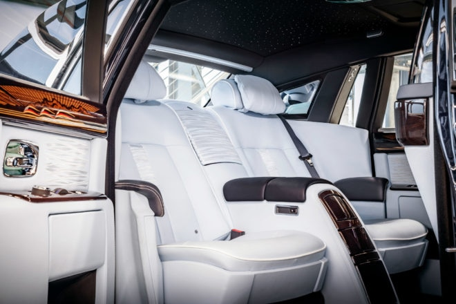 Final Rolls Royce Phantom VII Rear Interior