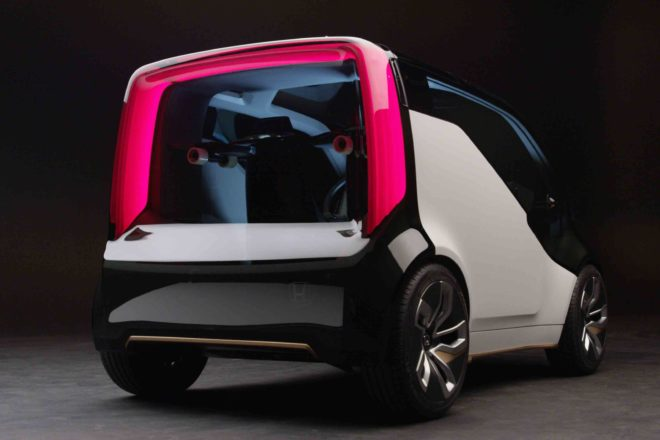 Honda NeuV Concept Rear Three Quarter 660x440