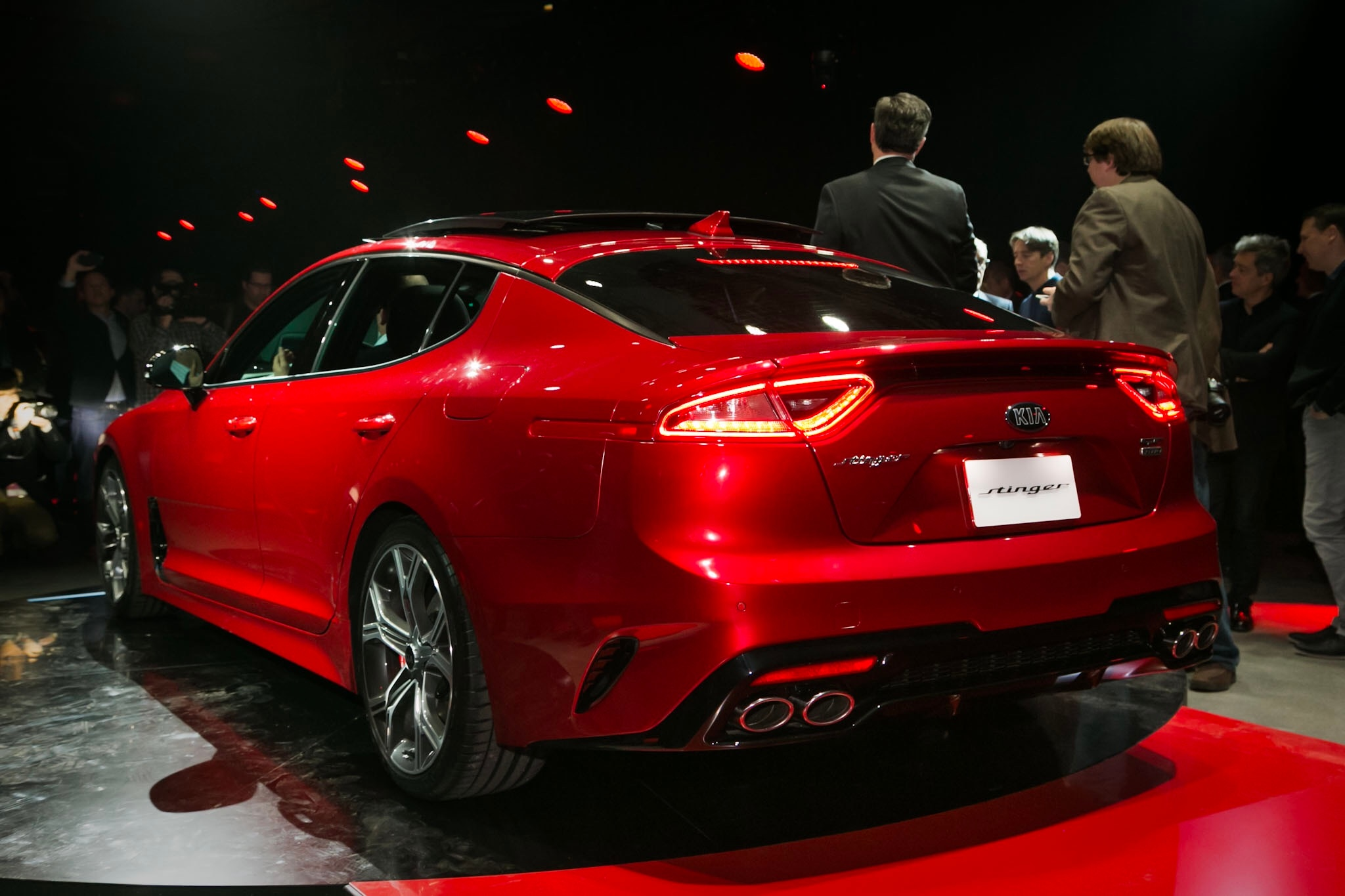 Kia Stinger GT Rear Three Quarter 02 1