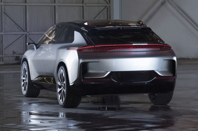 faraday future ff91 rear view