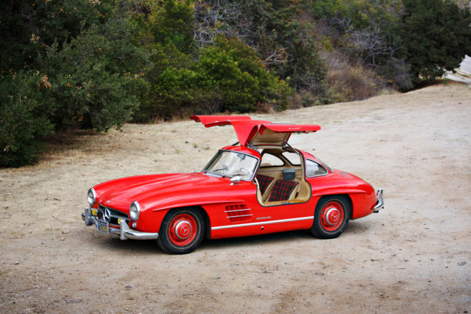 1955 Mercedes Benz 300SL Gullwing Front Three Quarter