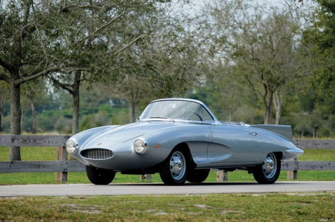 1957 Fiat Stanguellini 1200 Spider America RM Sothebys Amelia Island Front Three Quarters