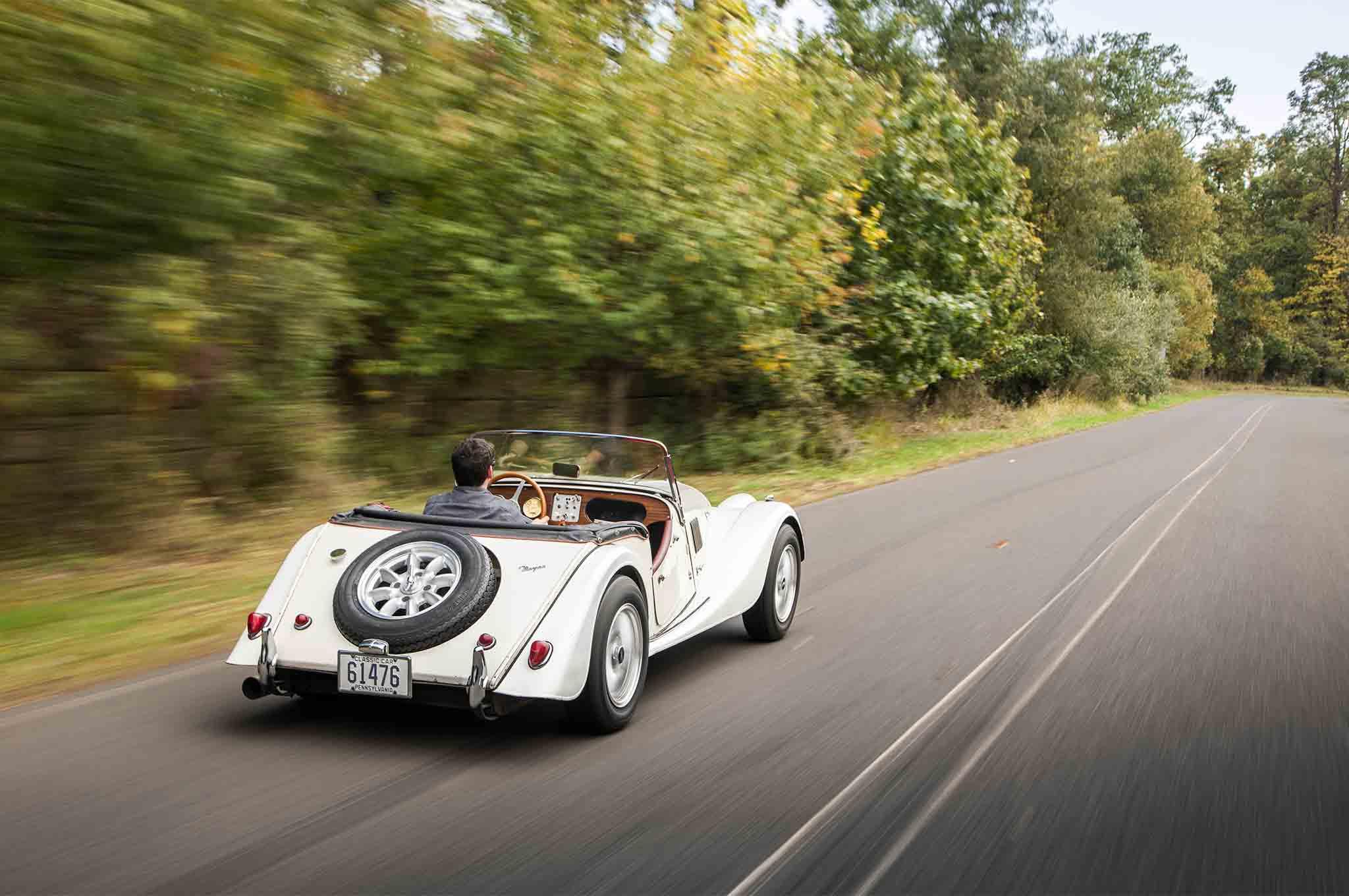 1963 Morgan 4 4 Rear Three Quarter In Motion 03