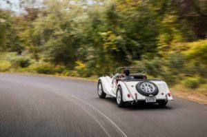 1963 Morgan 4 4 rear three quarter in motion 05
