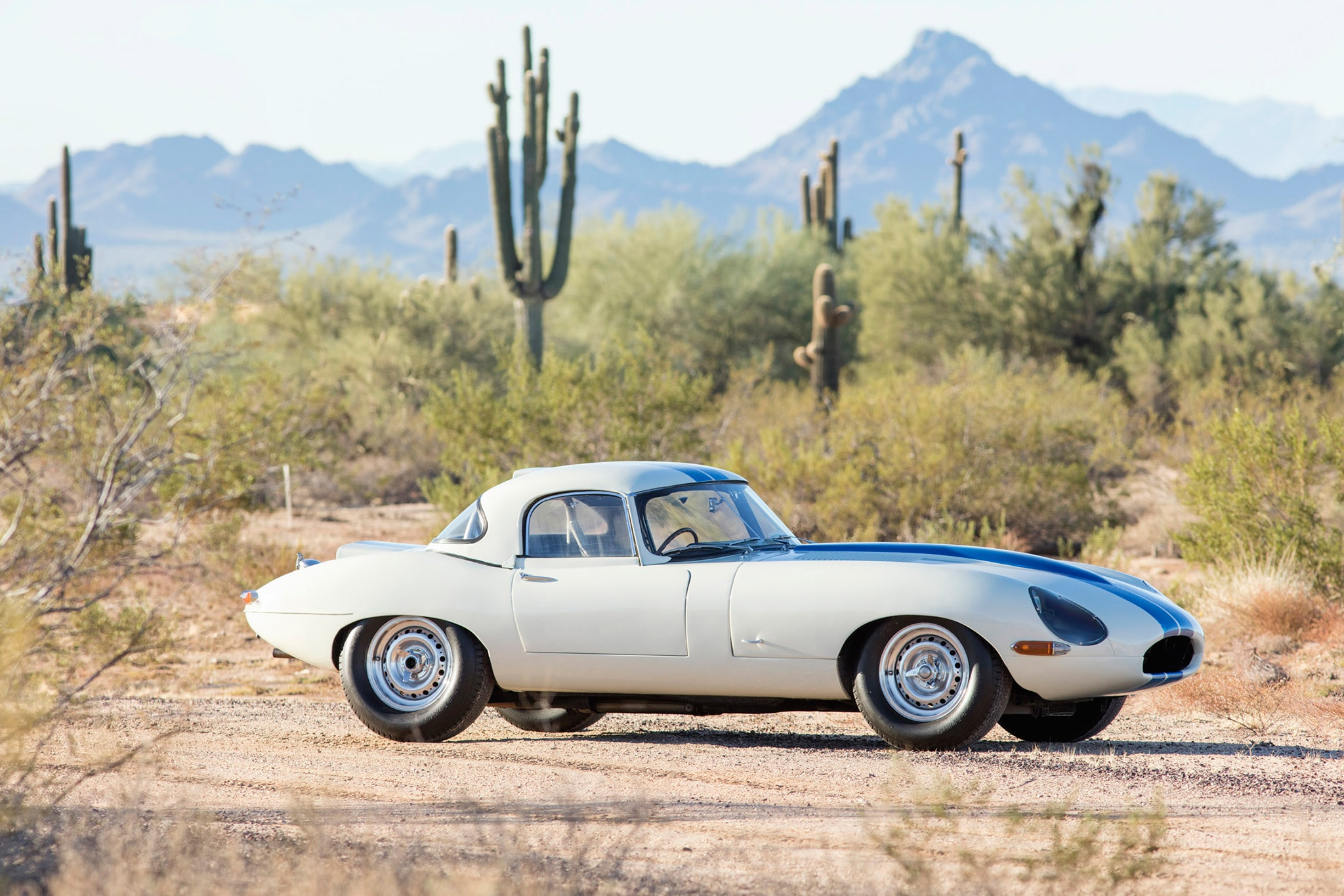 1967 Jaguar E Type Lightweight Competition 2017 Bonhams Scottsdale Right Side