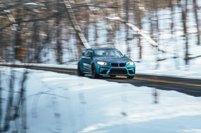 2017 BMW M2 front three quarter in motion 12