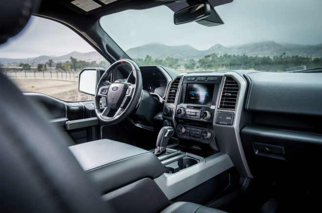 2017 Ford Raptor cabin