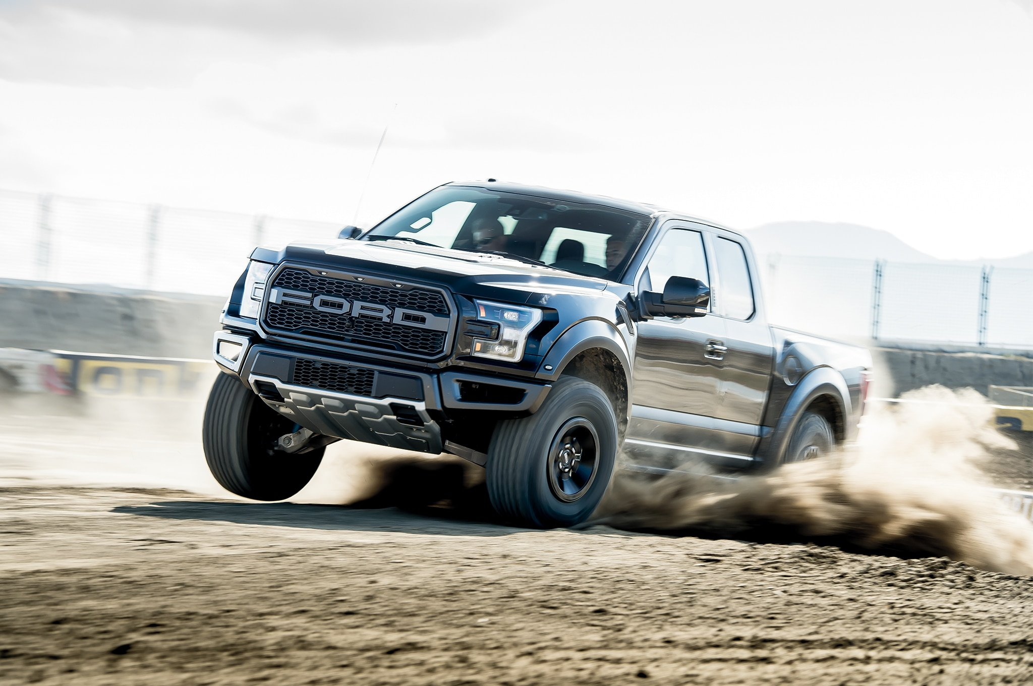 2017 Ford Raptor Front Three Quarter In Motion 02