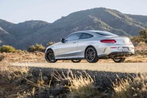 2017 Mercedes AMG C43 Coupe rear three quarters