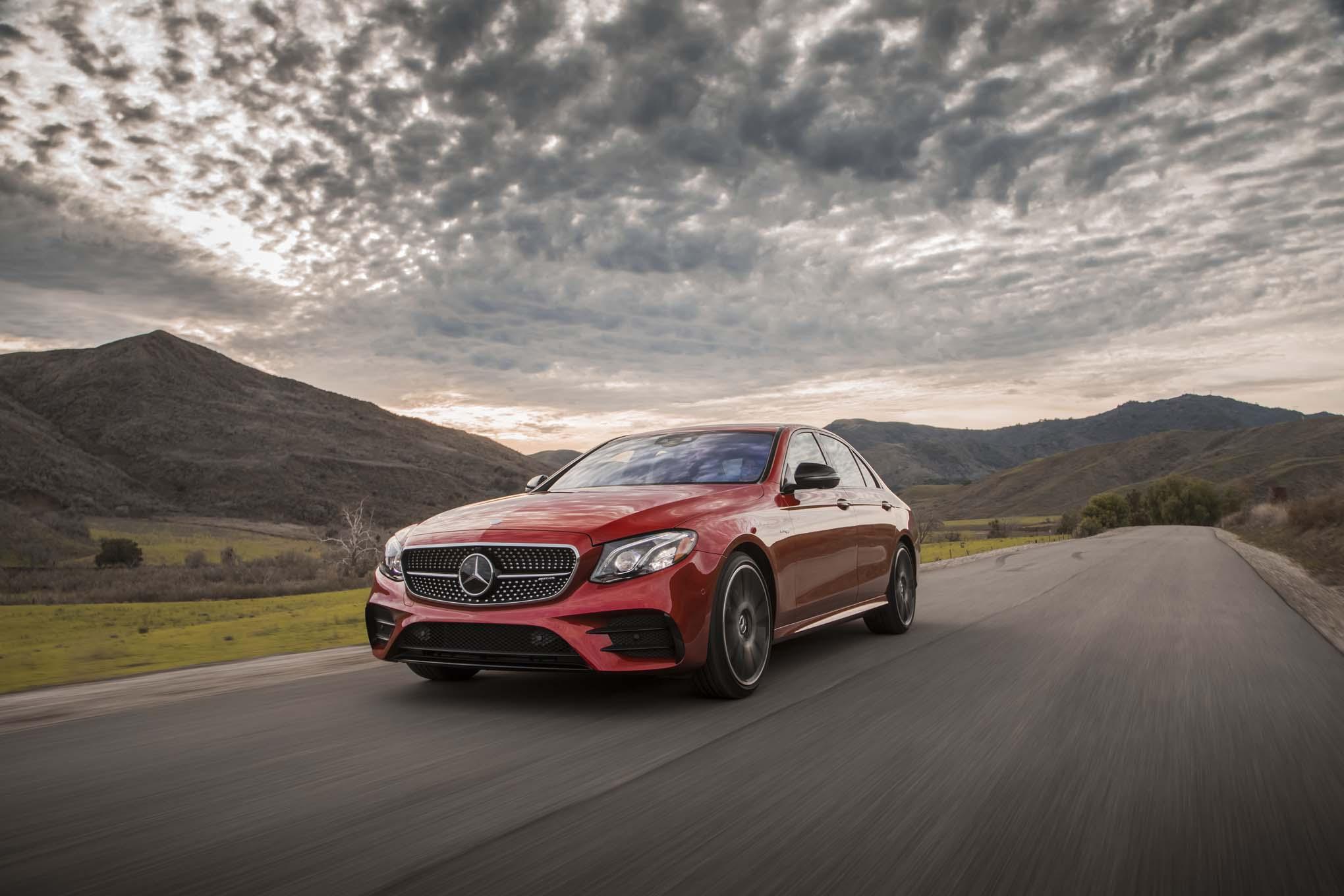 http://st.automobilemag.com/uploads/sites/11/2017/02/2017-Mercedes-AMG-E43-sedan-front-three-quarter-in-motion-12.jpg