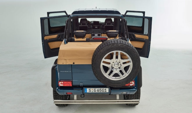 2017 Mercedes Maybach G 650 Landaulet Rear Open