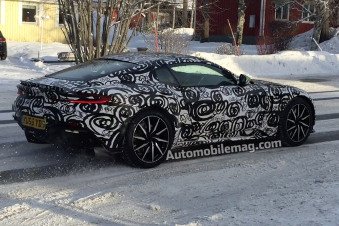 2018 Aston Martin Vantage Spied Rear Three Quarter 2