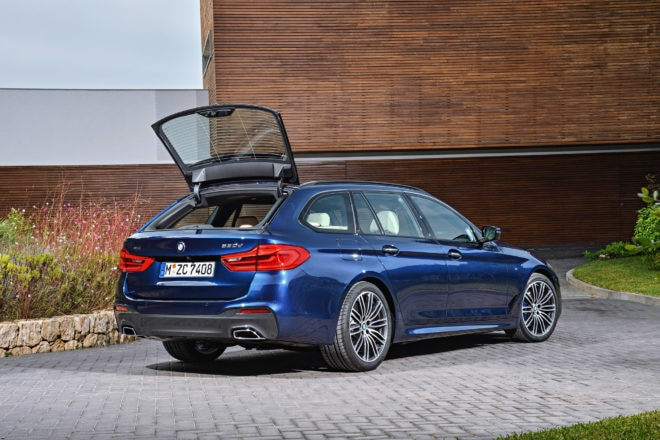 2018 BMW 5 Series Touring Rear Open